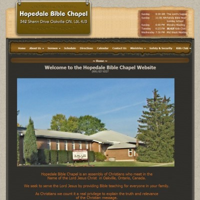 Hopedale Bible Chapel company